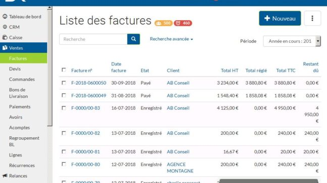 facturation SR Connect gestion 3